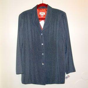 Talbots   NWT Gray Polyester Blazer Sz 8P